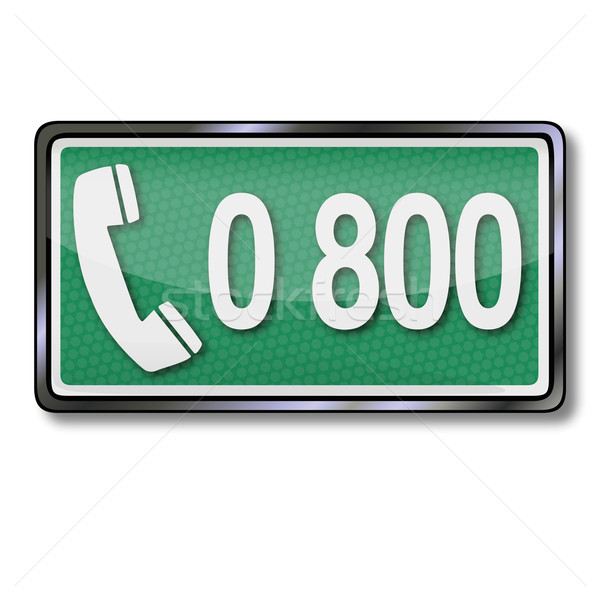 Telephone number 0800  Stock photo © Ustofre9