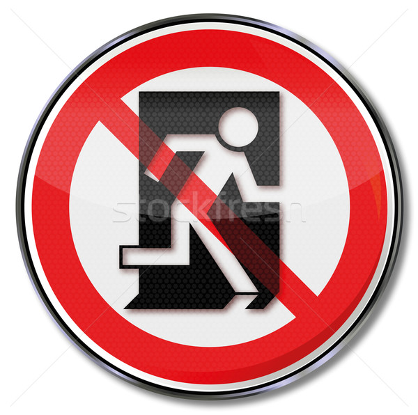 Stock photo: Prohibition sign this is not a way of escape