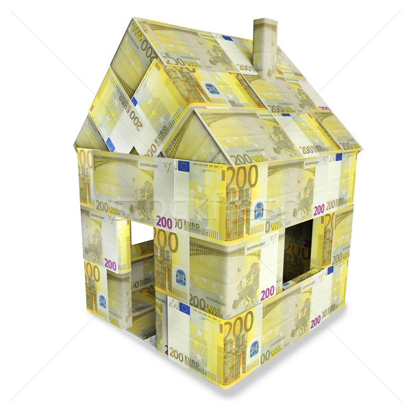 House of 200 euro bills Stock photo © Ustofre9