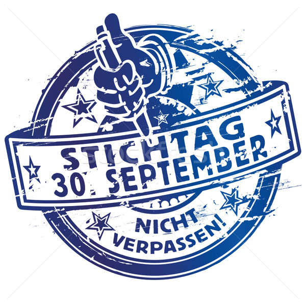 Rubber stamp deadline 30 September Stock photo © Ustofre9