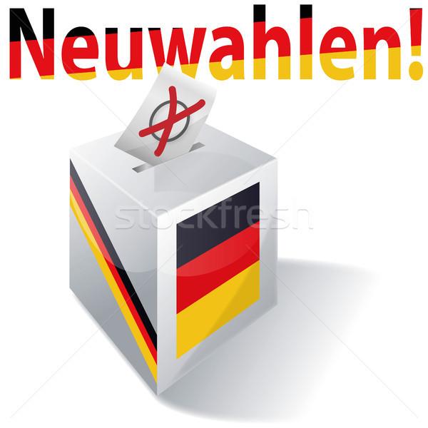 Doboz új választások buli zászló társasági Stock fotó © Ustofre9
