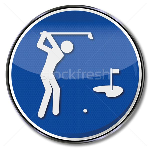 Teken golf groene recht club borden Stockfoto © Ustofre9