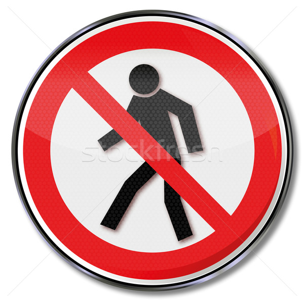 Prohibition sign for pedestrians Stock photo © Ustofre9