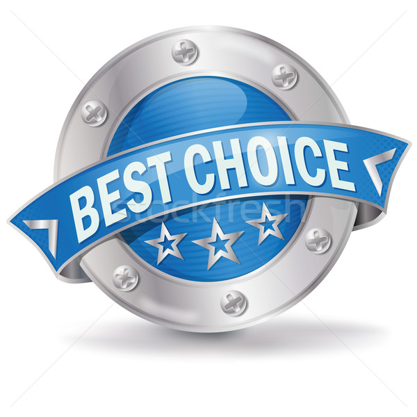 Stock photo: Button best choice