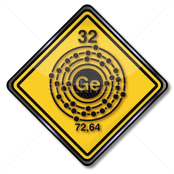 Signe chimie chimiques technologie droit Photo stock © Ustofre9
