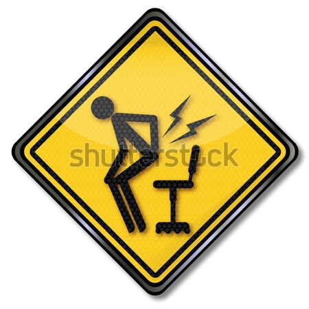 Stock photo: Warning of electric shock and damage insurance by lightning in the house
