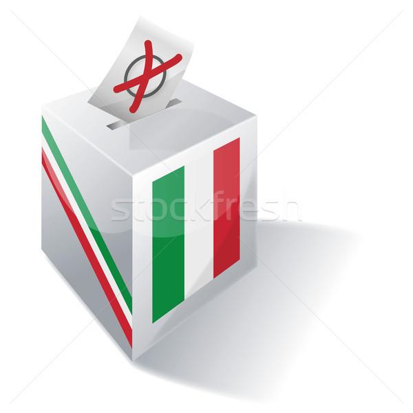 Stock photo: Ballot box Italy