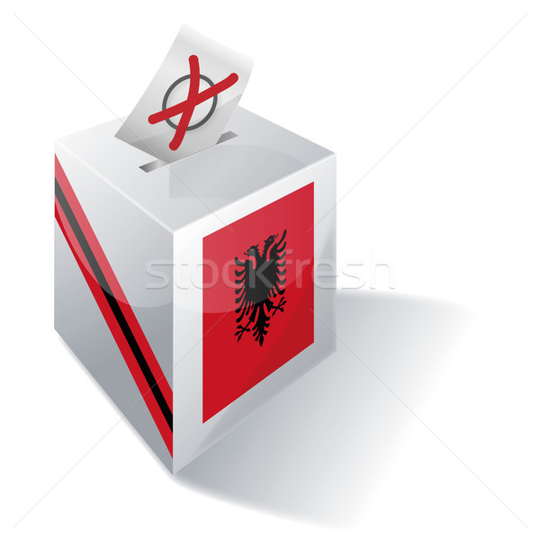Ballot box Albania Stock photo © Ustofre9