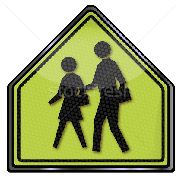 Traffic sign Pedestrian and crosswalk Stock photo © Ustofre9