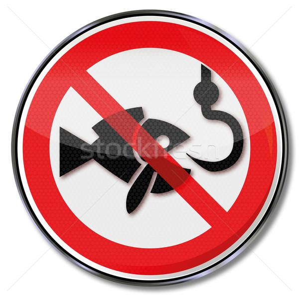 Prohibition sign ban on fishing  Stock photo © Ustofre9
