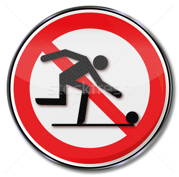 Prohibition sign for bowling Stock photo © Ustofre9