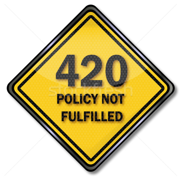 Stock photo: Computer shield 420 Policy Not Fulfilled
