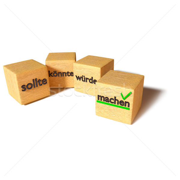Cubes should, could, would and make Stock photo © Ustofre9