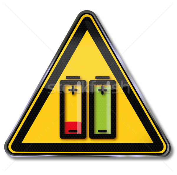 Sign battery and battery fully charged and discharged Stock photo © Ustofre9