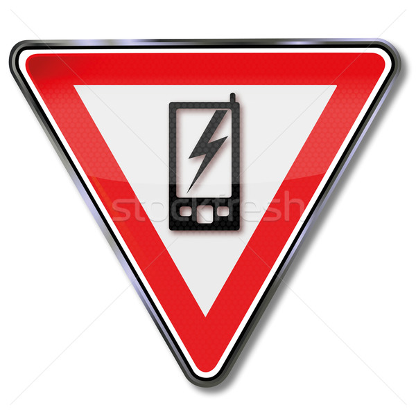 Sign cell phone and mobile phone Stock photo © Ustofre9