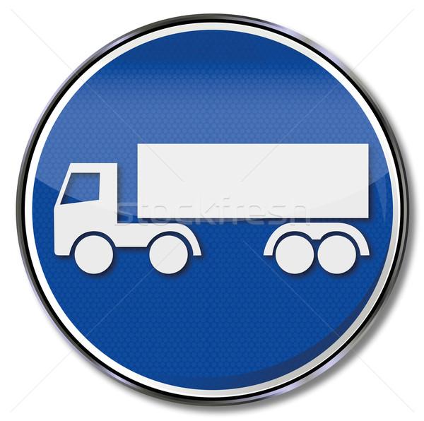 Trafik işareti kamyon sokak imzalamak trafik işaretleri Stok fotoğraf © Ustofre9