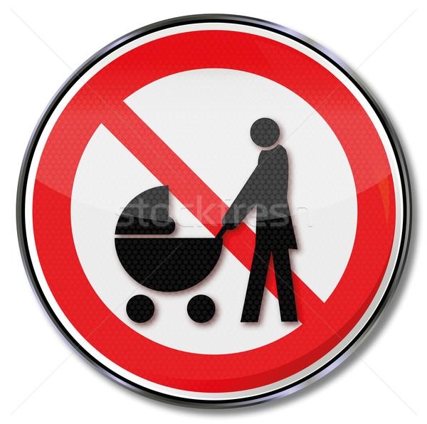 禁止 にログイン 標識 妊娠 ボタン ラベル ストックフォト © Ustofre9