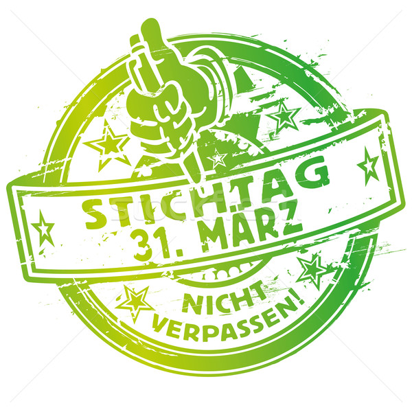 Rubber stamp March 31 Stock photo © Ustofre9