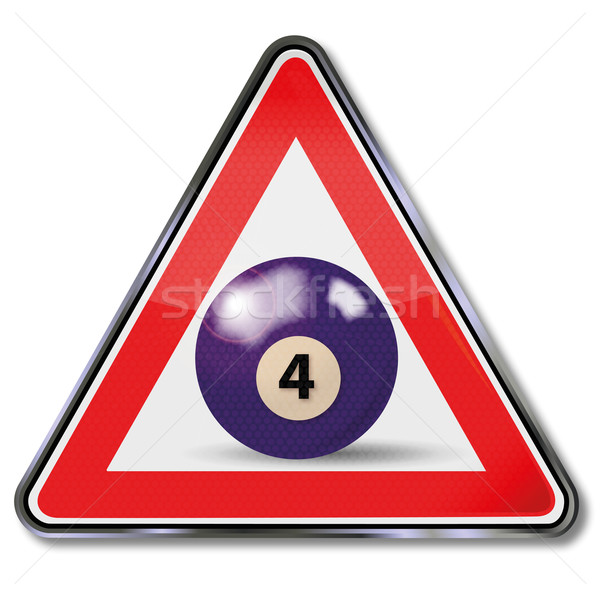 Shield violet pool billiard ball number 4 Stock photo © Ustofre9
