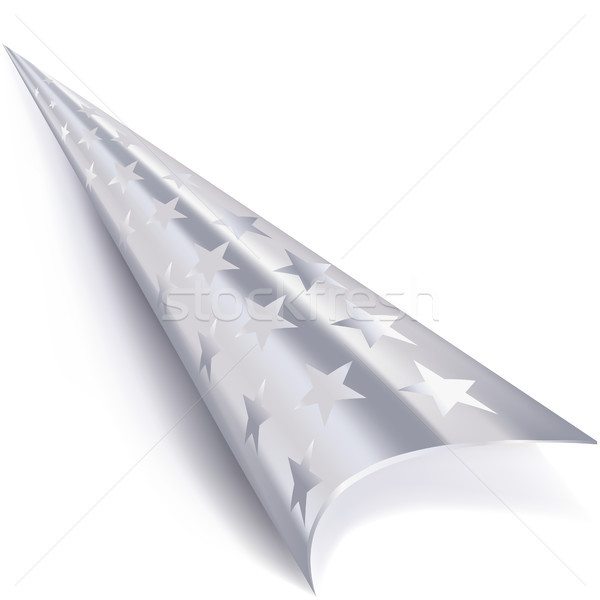 Rolled corner in silver with stars Stock photo © Ustofre9