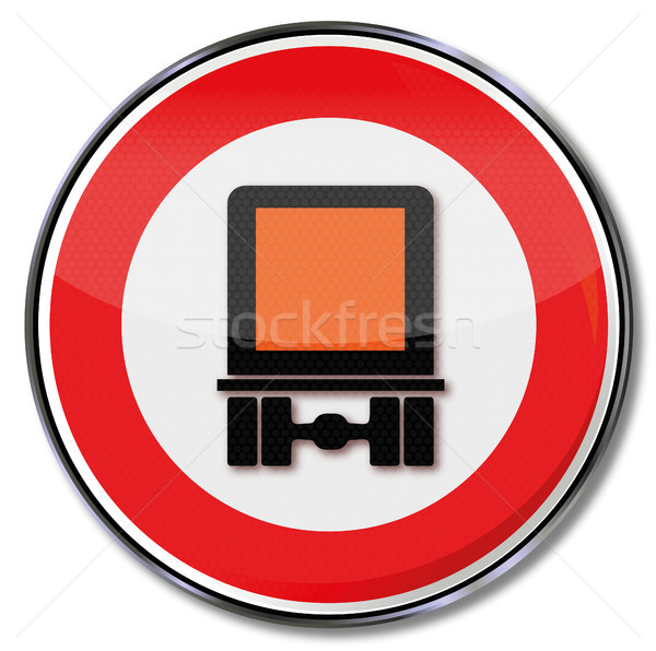 Prohibition sign for dangerous goods Stock photo © Ustofre9