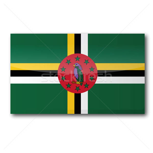 флаг Доминика карта острове стране карт Сток-фото © Ustofre9