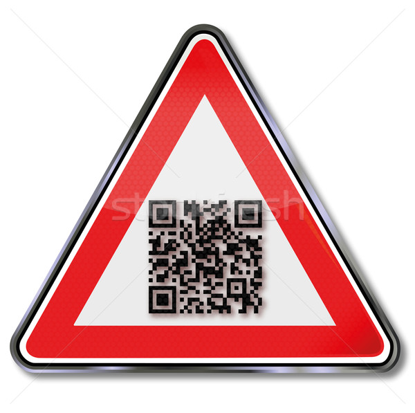 Sign with QR Code Stock photo © Ustofre9
