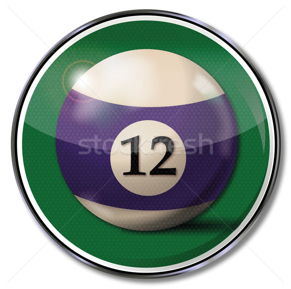 Sign with the billiard ball number 12  Stock photo © Ustofre9