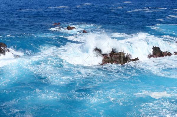 Olas mar costa agua naturaleza verano Foto stock © Ustofre9
