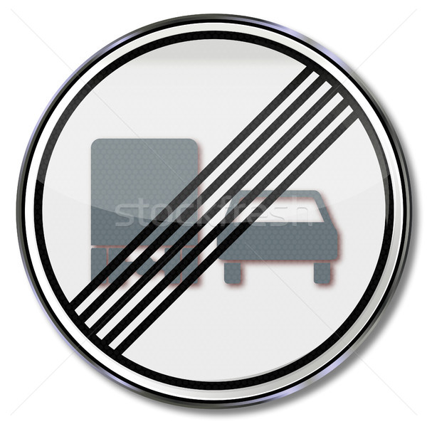 Traffic sign repeal overtaking Stock photo © Ustofre9