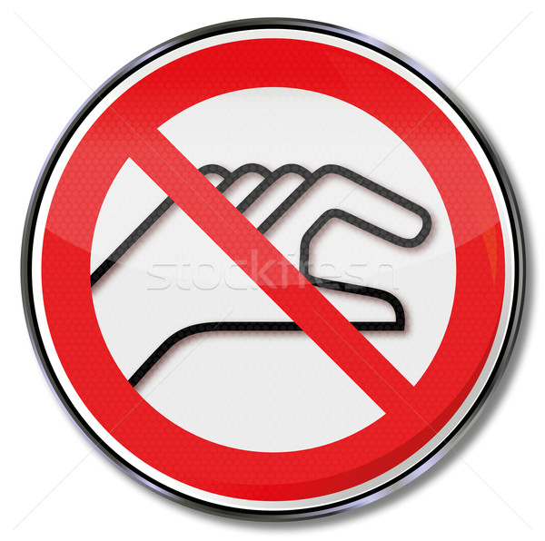 Prohibition sign banned for reach inside with a hand Stock photo © Ustofre9