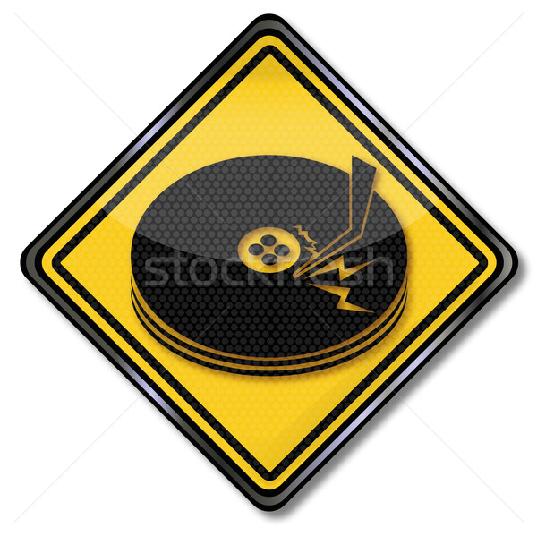 Sign scratched disk drive Stock photo © Ustofre9