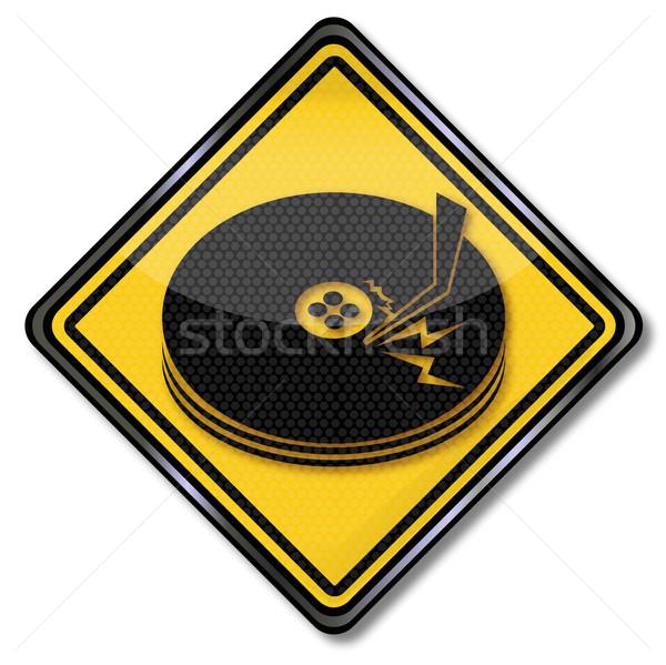 Felirat lemez vezetés számítógép szerver háló Stock fotó © Ustofre9