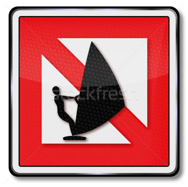 Navigational mark ban for windsurfing Stock photo © Ustofre9