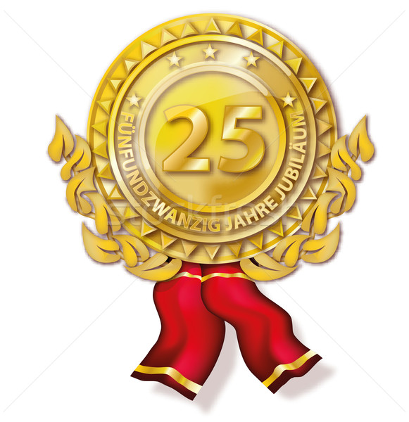 Medal twenty-five years anniversary Stock photo © Ustofre9