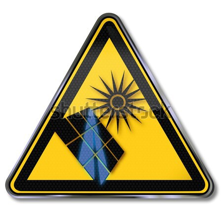 Danger sign warning  of low temperature and cold  Stock photo © Ustofre9