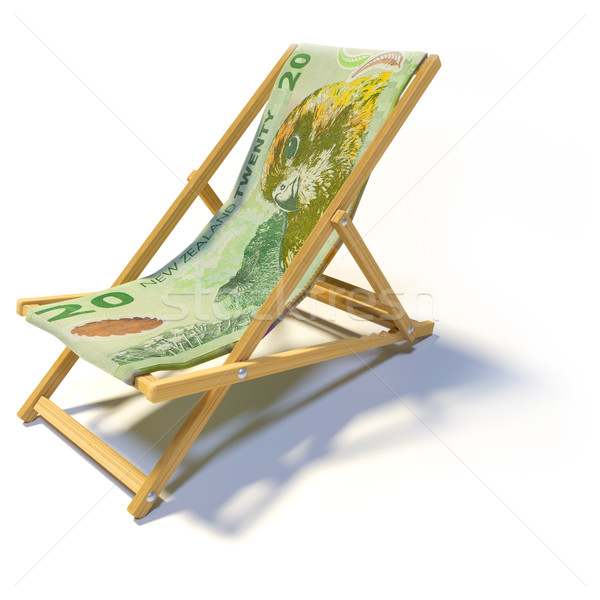 Folding chair with 20 New Zealand dollars Stock photo © Ustofre9