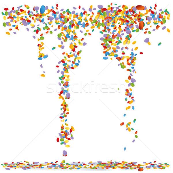 Konfetti levegő papír buli terv születésnap Stock fotó © Ustofre9