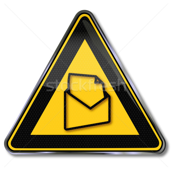 Stock photo: Sign letter and e-mail