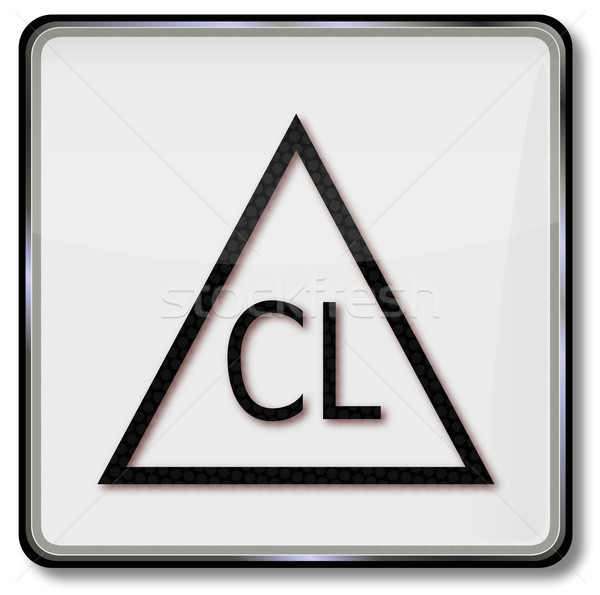 Textile care symbol bleaching allowed with chlorine Stock photo © Ustofre9