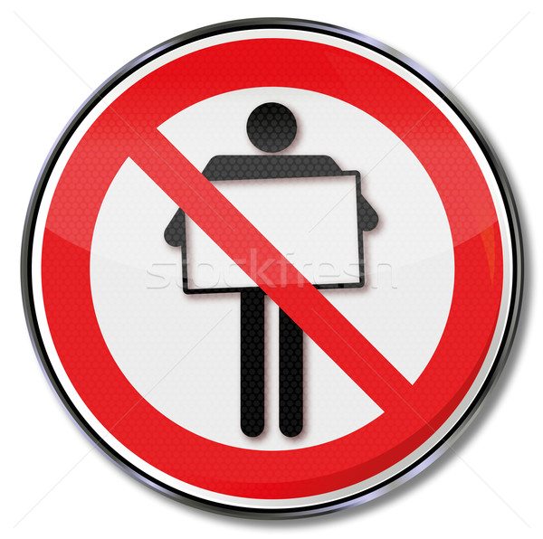 Prohibition sign or posters and advertising Stock photo © Ustofre9