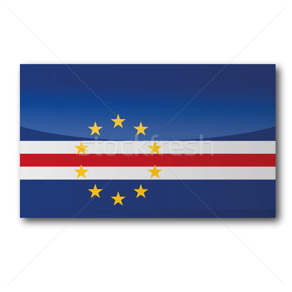 Flag Cape Verde Stock photo © Ustofre9