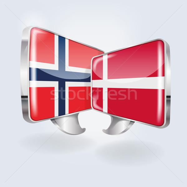 пузырьки речи норвежский подготовки программное мира Сток-фото © Ustofre9