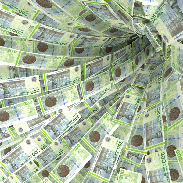 Money vortex of 200 Danish kroner bills Stock photo © Ustofre9