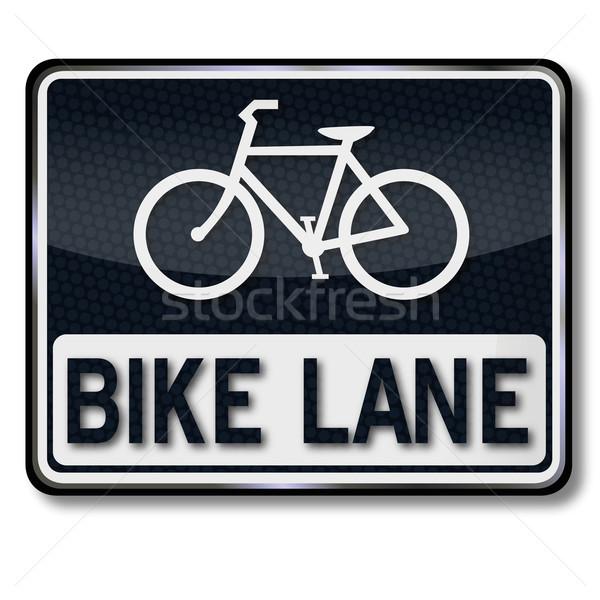Trafik işareti bisiklet bisiklet siyah trafik Stok fotoğraf © Ustofre9