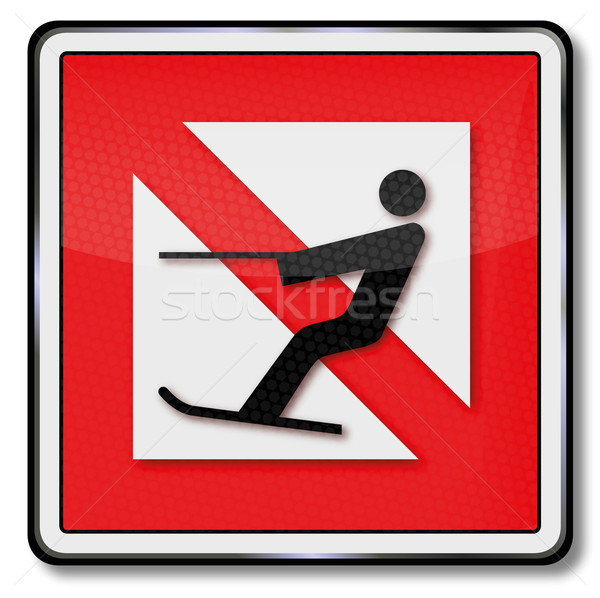 Navigational marks ban for water ski and water-skiing Stock photo © Ustofre9