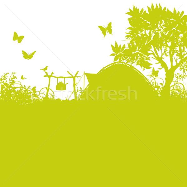 Tent and campground in the grass  Stock photo © Ustofre9