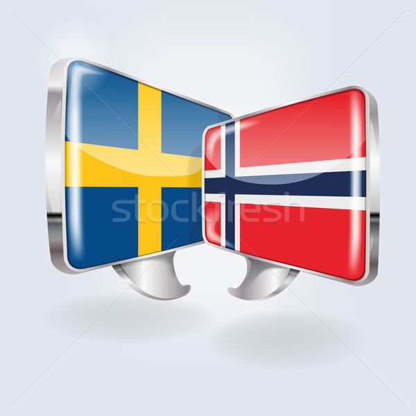 Buborékok beszéd norvég képzés szoftver béke Stock fotó © Ustofre9