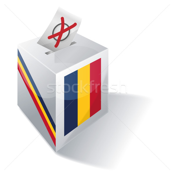 Stock photo: Ballot box Chad