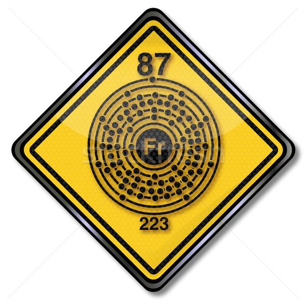 знак химии характер пластина кнопки Сток-фото © Ustofre9